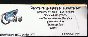 Get your tickets for the pancake breakfast today! Tickets can be purched in the main office or from students.