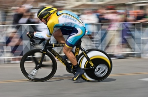 Photo Courtesy of The VergeLance Armstrong cycling in one of the many Tour De France's.