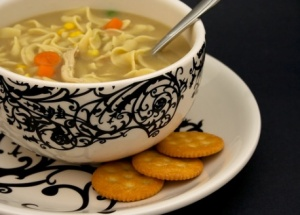 (Photo Courtesy of itsrecipe.com) Chicken noodle soup is a great food to eat when you have the flu because it contains nutritious ingredients that are known to help with the flu. The vegetables have antioxidants and phytochemicals which speed up recovery and the chicken has an anti-inflammatory effect on the body, which decreases swelling in sinus and nasal passages. It also hydrates you, which is vital for getting better. Canned soup can contain MSG, chemicals, and a large amount of salt, which will dehydrate you, so homemade is always best.
