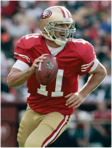 (Photo Courtesy of SF Examiner) Alex Smith former starting quarterback for the San Francisco 49ers.