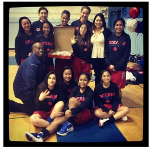 (Photo Courtesy of Aanise Harrison) The Girls Varsity Basketball Team/
