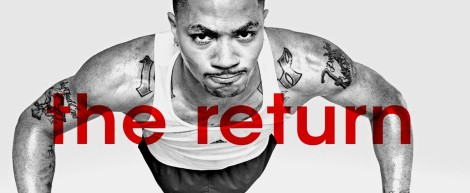 """(Photo Courtesy to Sportsfanjournal) Derrick Rose is doing pushups during his episode in """"The Return""""."""