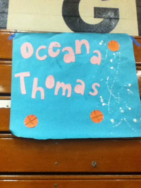 Photo # 4 a poster for one of the 3 teams at Oceana (photo courtesy of mariam de guzman)