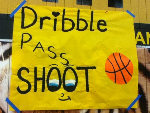 one of the posters at the game (photo courtesy of mariam de guzman)