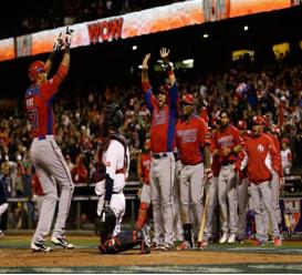 (Photos Courtesy of Bleacherreport) Puerto Rico celebrating after a win in the semi-finals of the World Baseball Classic.