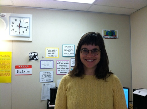 (Photo Courtesy of Denise Hensley) Ms. Delman showing her famous smile.
