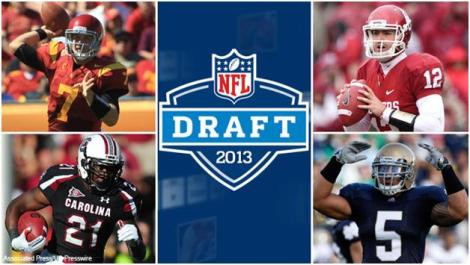 (Photo Courtesy of the Associated Press) Some of the top draft prospects are shown in the picture.