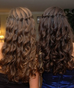 (Photo courtesy of Pinterest) Waterfall Braid with curls