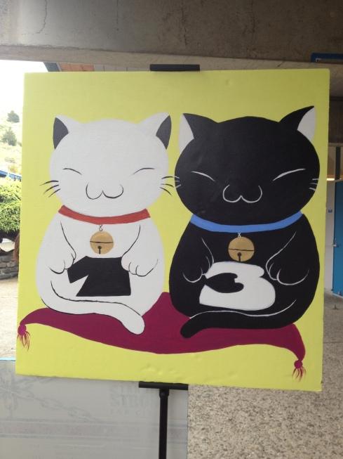 (Phot courtesy of Bridget Pocasangre) Cats representing BAM's Lucky 13 theme