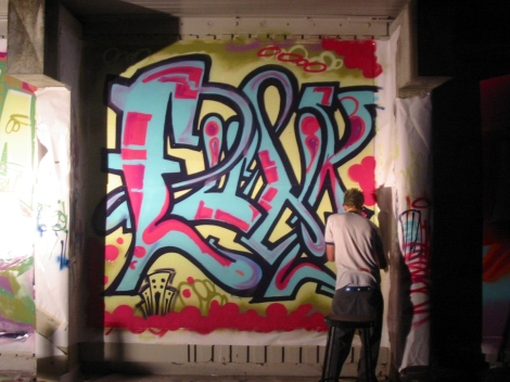 (Photo courtsey of Graham Cruickshank) Graffiti art at BAM 2003