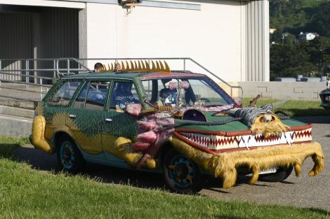 (Photo courtsey of Graham Cruickshank) Crazy car art at BAM 2010