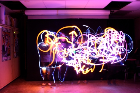 (Photo courtsey of Graham Cruickshank) Light drawing at BAM 2012