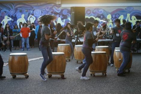 (Photo courtsey of Graham Cruickshank) Taiko drumming at BAM 2011
