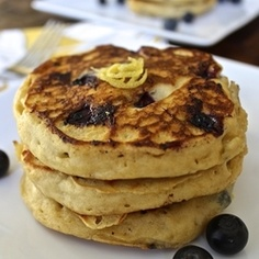 (Photo courtesy of Pinterest) Lemon Ricotta Blueberry Pancakes
