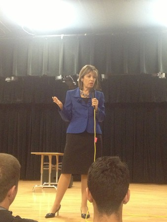 (Photo Courtesy of Aaron Patterson) Rep. Jackie Speier at Oceana High School May 2013