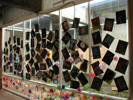 (Photo courtsey of Graham Cruickshank) Window paintings at BAM 2002