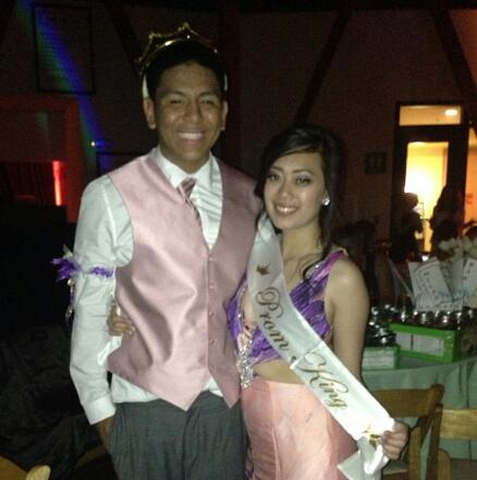 (Photo Courtesy of James Garcia) Prom King James Garcia with his girlfriend and prom date Mariam DeGuzman.