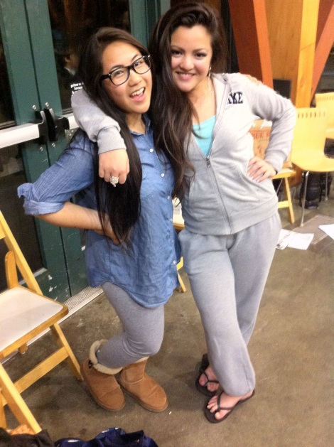 (Photo Courtesy of Jeremy Curimao) Celine Galliguez and Cheriza Infante ready to go home after a fun time at prom.