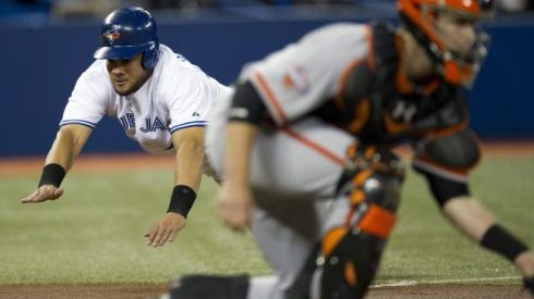 (Photo Courtesy of Fox News) Former Giant, Melky Cabrera, sliding in for a score.