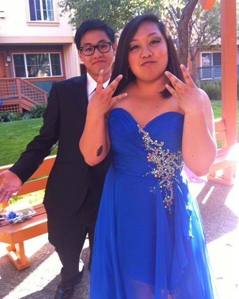 (Photo Courtesy of AJ Carpio) Juniors Kevin Salubre and AJ Carpio go to prom together in style in their royal blue themed color scheme.