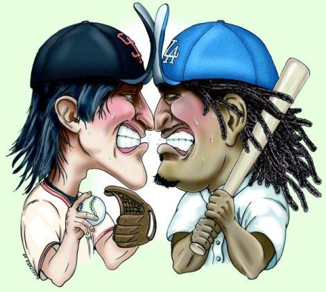 (Photo Courtesy of Bleacherreport) The Dodgers and the Giants head-to-head.