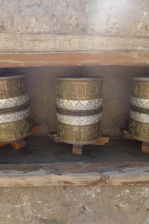 (Photo courtesy of Maddie Oaks) Buddhist prayer wheels at a monastery in Ladakh.