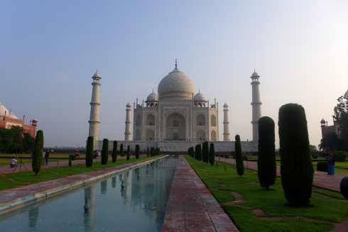 (Photo courtesy of Maddie Oaks) The Taj Mahal at sunrise