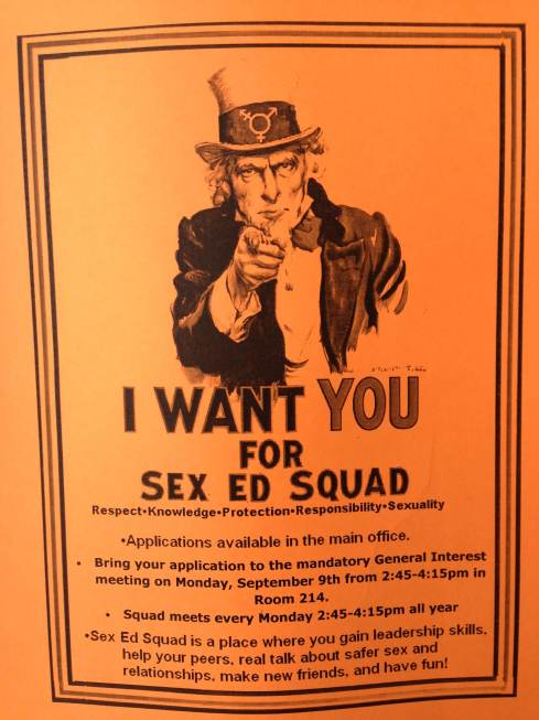 Above is all the info you need if you're interested in Sex Ed Squad