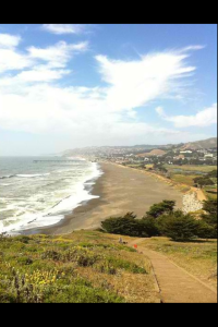 Senior, Aj Carpio, captures a fantastic view on her stroll along Mori Point in Pacifica, California.