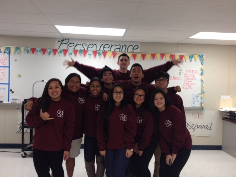 Some of your senior ASB student officers! From left to right (bottom row): AJ Carpio, Roann Dela Vega, Aanise Harrison, Celine Galliguez, Fatima Eusebio, Cheriza Infante. From left to right (top row): Christopher Uy, Travis Nuckolls, Jeremy C. Curimao, Kevin Salubre.
