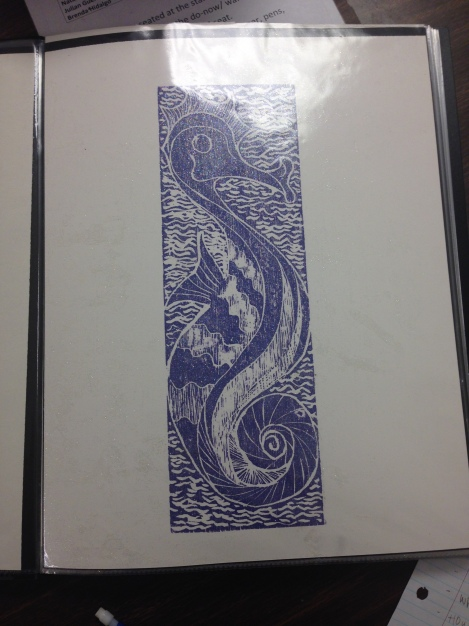 (Photo courtesy of Ms. Madden) An example of a print designed by Ms. Madden