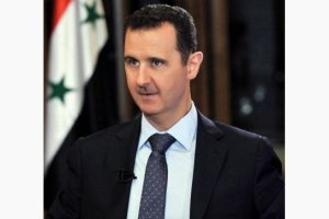 President of Syria,  Bashar Assad, in an interview. ~Photo courtesy of FOX news