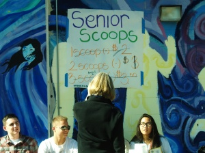 Ms. Pemberton viewing and talking to the ASB booth.