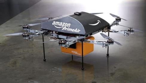 Amazon drones incorporate eight propellers, it can still fly if one fails. ~Photo courtesy of Amazon.com