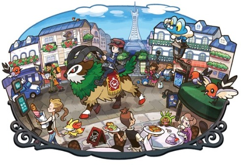 The Kalos region. ~Photo courtesy of Siliconera.