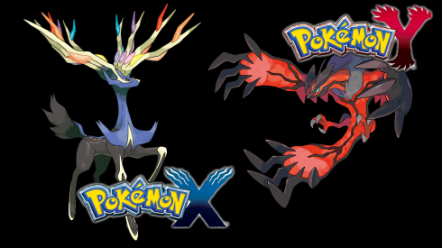 Pokemon X (Xerneas) on the left, and Pokemon Y (Yveltal) on the right. ~Photo courtesy of MyNintendoNews.