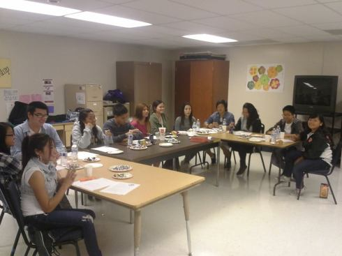 BTC members discuss and share thoughts with one another during one of the first Youth Access Survey meetings. Photo Courtesy of Mary Bier.