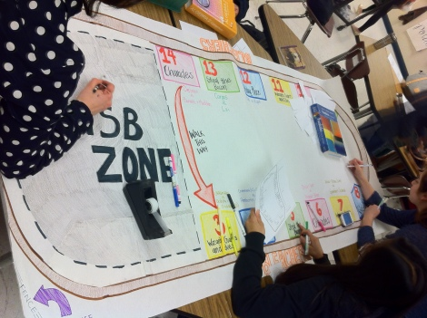 Junior ASB officers  prepare a Phoenix Rally Map. From left to right: Farah Karajah, Monique Ubungen, and Clarissa Eshelman. Photo Courtesy of Jeremy C. Curimao.