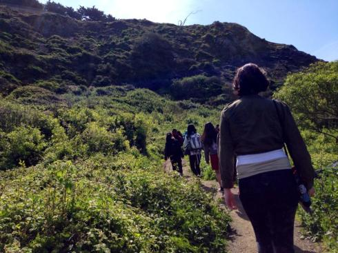 Walking through a beautiful field of grasses and flowers near Baker Beach. Photo Courtesy of InterimOfSleep