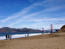 The sands of Baker Beach. Photo Courtesy of InterimofSleep