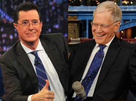 Stephen Colbert (Left) and David Letterman (Right) Photo courtesy of eOnline